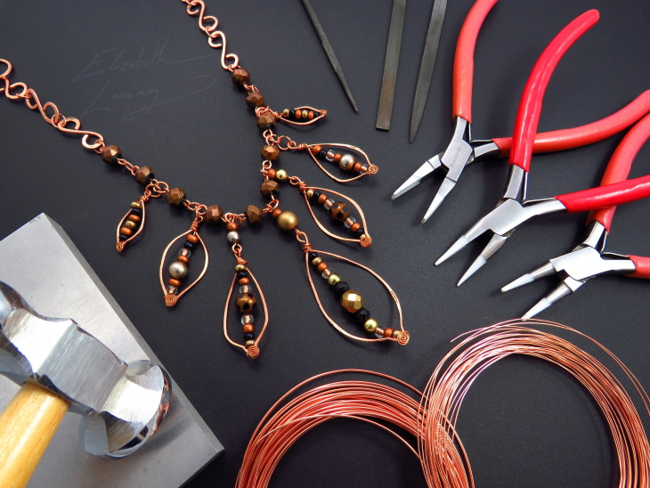 202: Completely Crafted Copper Necklaces